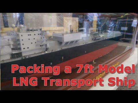 Packing a 7ft Model Transport Ship