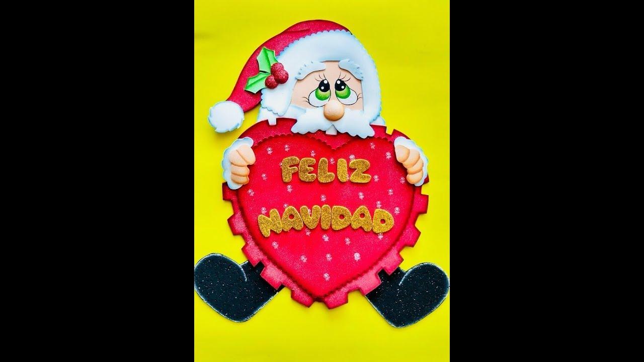 Papa Noel Corazon Paso A Paso Craft Diy Manualidad Navidad En