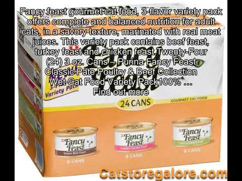 Purina Fancy Feast Classic Pate Poultry & Beef Collection Wet Cat Food Variety Pack - (24) 3 oz. Ca