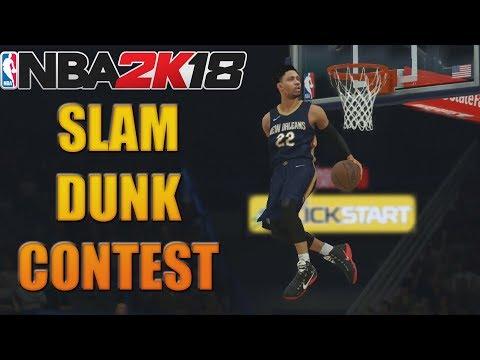 NBA 2K18 - SLAM DUNK CONTEST | I Got A Perfect 50 Dunk