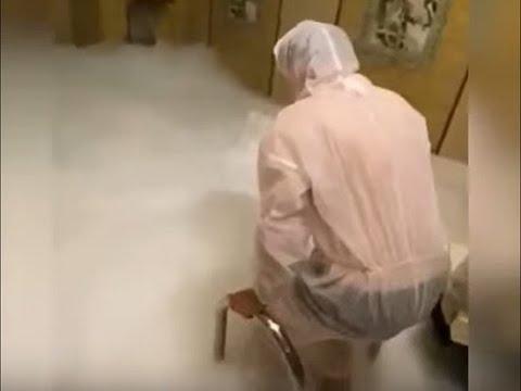 Видео банной вечеринки Екатерины Диденко где забросили сухой лед в бассейн.Новости 2 Марта Малахов
