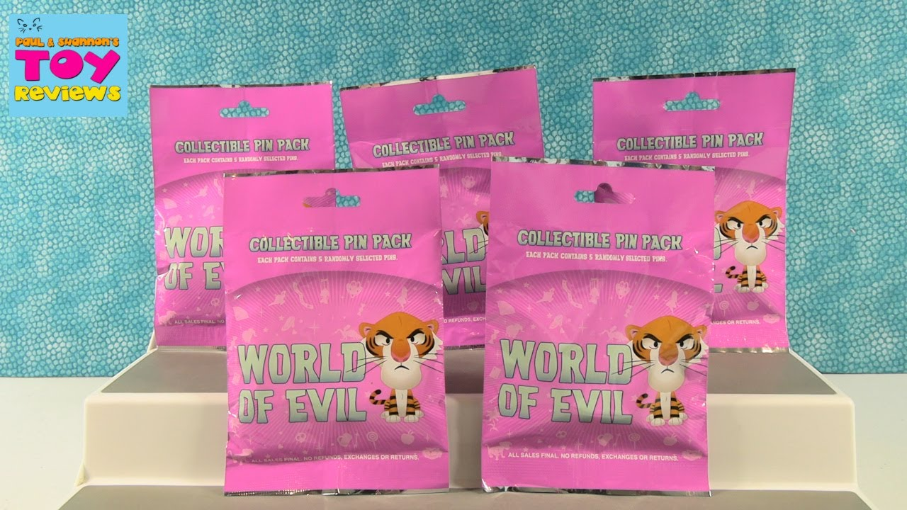 Disney World Of Evil Collectible Pin Pack Opening Review   PSToyReviews