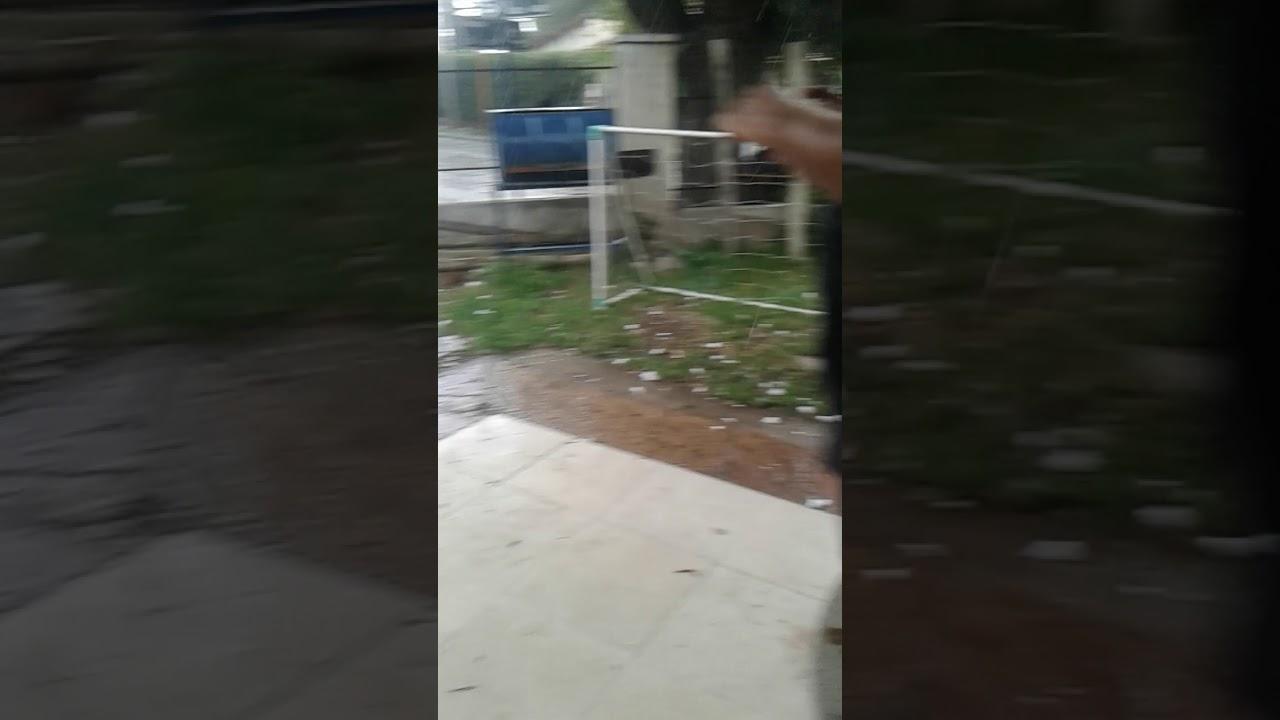 tremenda lluvia de piedras en villa carlos paz