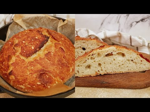 No-knead 4 ingredients bread the scent will make your mouth water