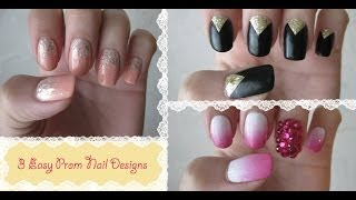 3 Easy Prom Nail Designs
