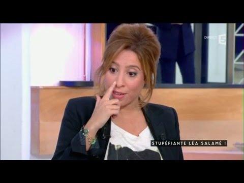 Stupéfiante Léa Salamé - C à vous - 09/01/2017
