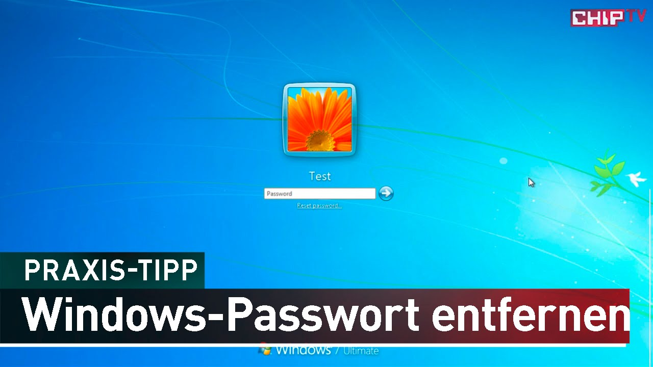 Windows Passwort Entfernen Praxis Tipp Deutsch Chip Youtube