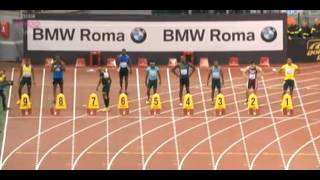 Justin Gatlin Beats Usain Bolt 100m - 9.94 - Golden Gala Rome Diamond League 2013