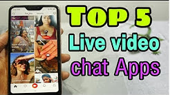 Top 5 Free Live Video Chat Android  Apps (April) 2019 Full Entertainment Apps।।