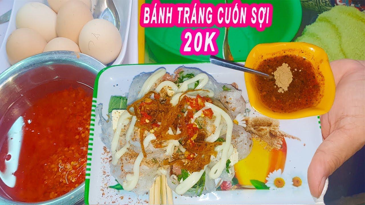 Độc đáo Bánh Tráng Cuốn Sợi Xúc Xích Phô Mai hiếm thấy ở Sài Gòn