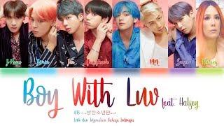 Gambar cover Lirik dan Terjemahan BTS - (Boy With Luv) feat. Halsey Lyrics Color Coded (Han/Rom/Indo)