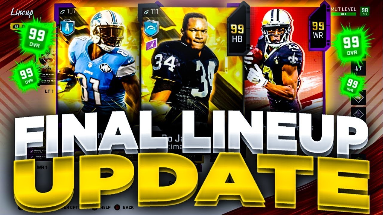 99 OVERALL LINEUP UPDATE MADDEN 20 ULTIMATE TEAM!! | FINAL LINEUP UPDATE OF MADDEN!!