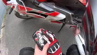 Aprilia RS 125: Падение мотоцикла. Типичная ошибка новичка...