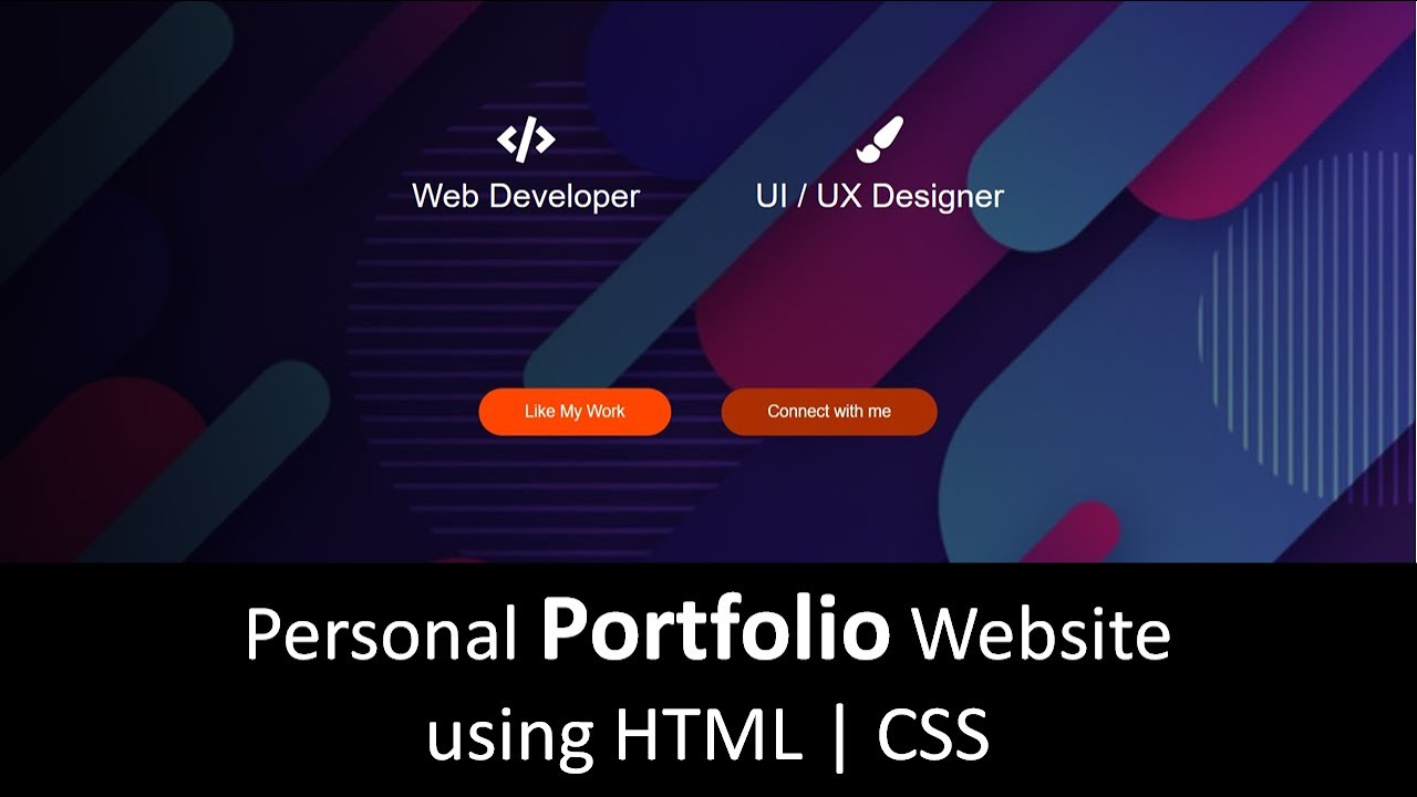 Personal Portfolio using HTML and CSS | Portfolio website