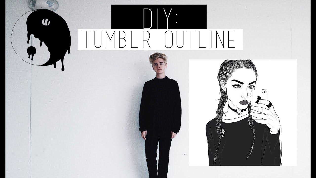 easy tumblr inspired outline tutorial on phone youtube