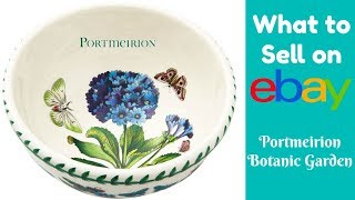 What to Sell on eBay: Botanic Garden by Portmeirion Tableware