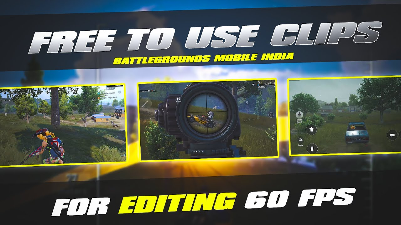 Free To Use pubgmobile/BGMI for EDITING/60fps