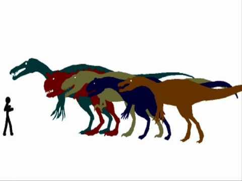 Carnivore Dinosaur Size Comparison Scale