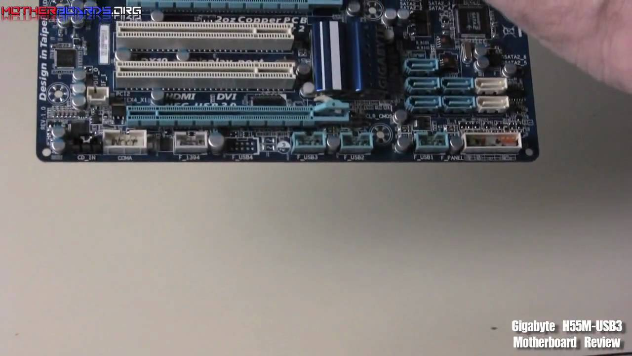 Gigabyte H55M-USB3 Motherboard Review - YouTube