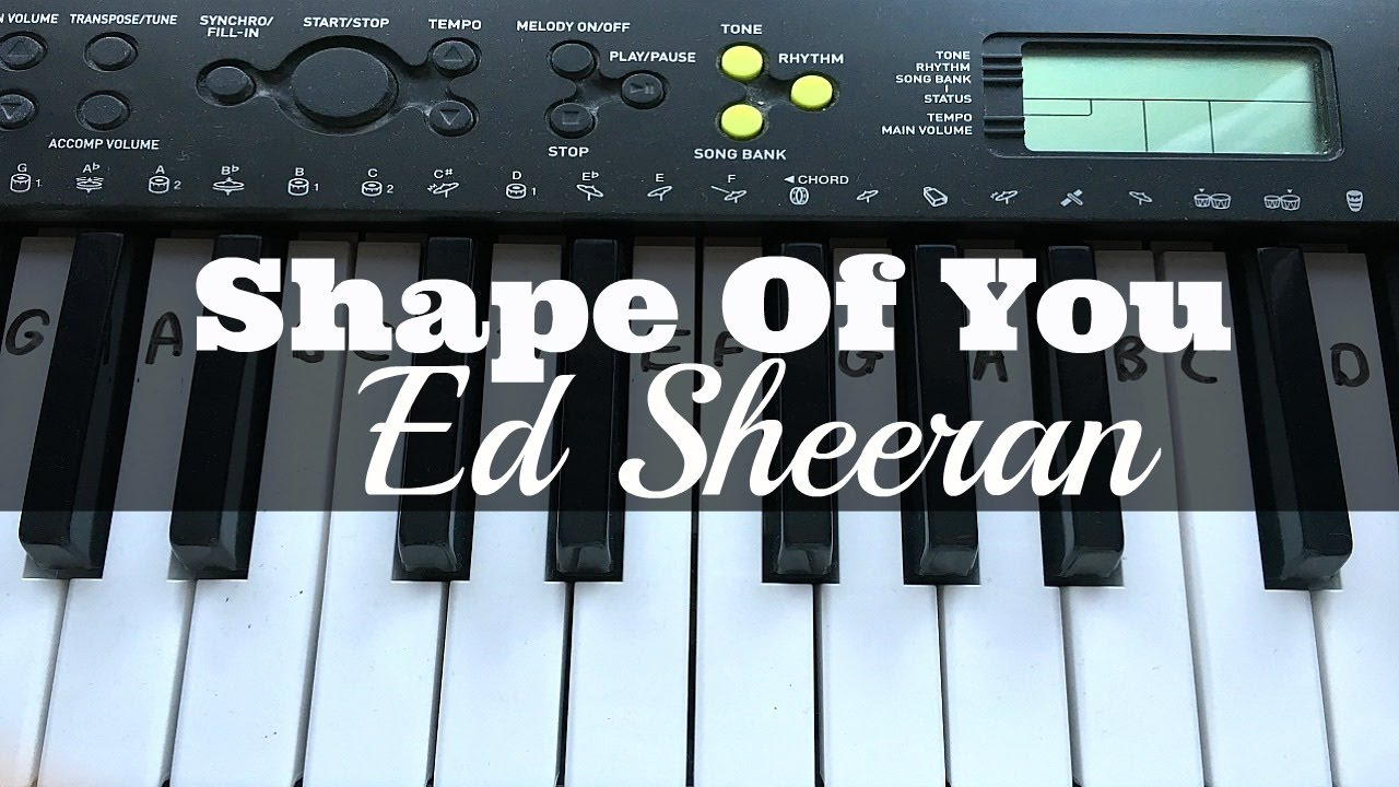 Shape Of You Ed Sheeran Easy Keyboard Tutorial With Notes Right