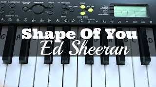 Shape Of You - Ed Sheeran | Easy Keyboard Tutorial With Notes (Right Hand)