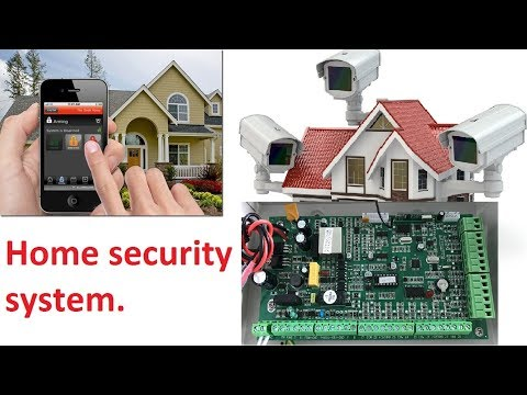 PIR Sensor. Pyroelectric Infrared Radial sensor module. Home security system.