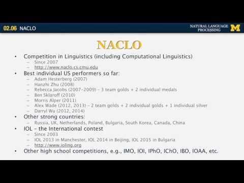 NACLO - Natural Language Processing