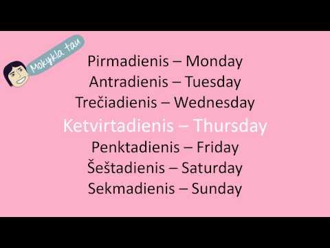 Savaitės dienos angliškai from YouTube · Duration:  17 seconds