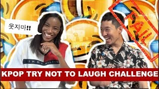KPOP TRY NOT TO LAUGH CHALLENGE #10  (Non-Kpop fan reaction)