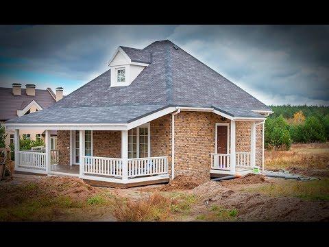 Английский стиль фасада для дома из сип-панелей