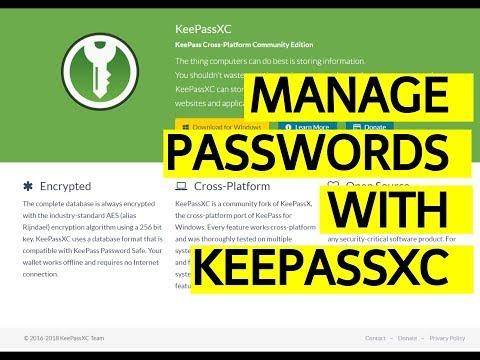 KeePassXC, Free, Open Source Password Manager