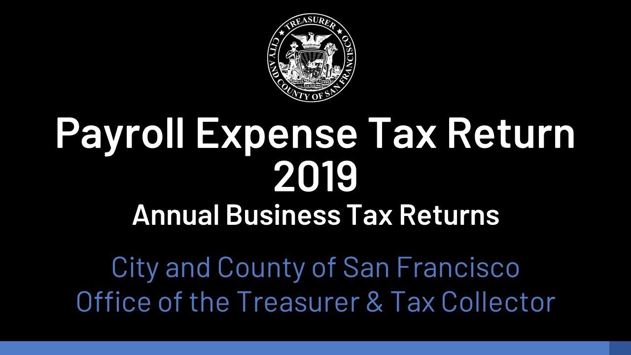 Annual Business Tax Returns 2020