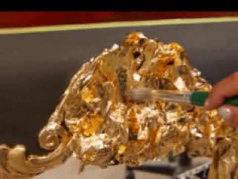 gold leaf gilding - YouTube 5787fba50