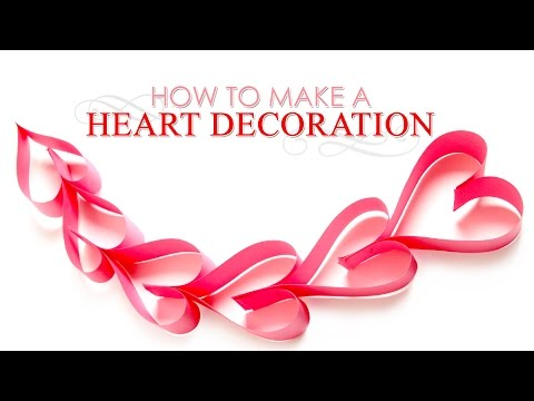 How to Make Paper Hearts Decoration | DIY Paper Heart Decoration | Handmade Paper Crafts