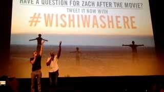 Zach Braff and Donald Faison singing Guy Love at Wish I Was Here screening in Austin