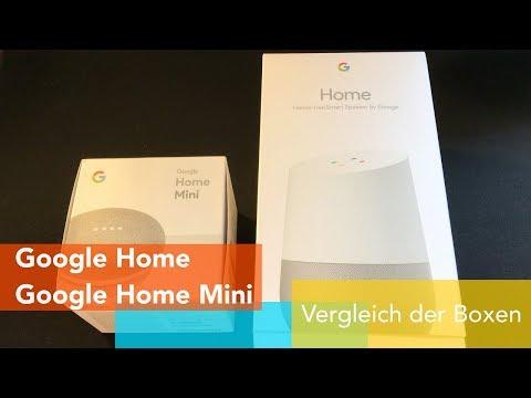 Google Home und Google Home Mini Vergleich (Deutsch)