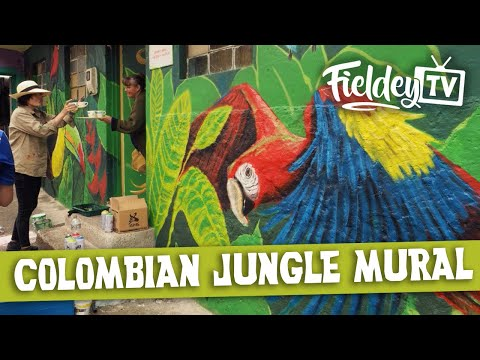 Colombian Jungle Street Art Mural