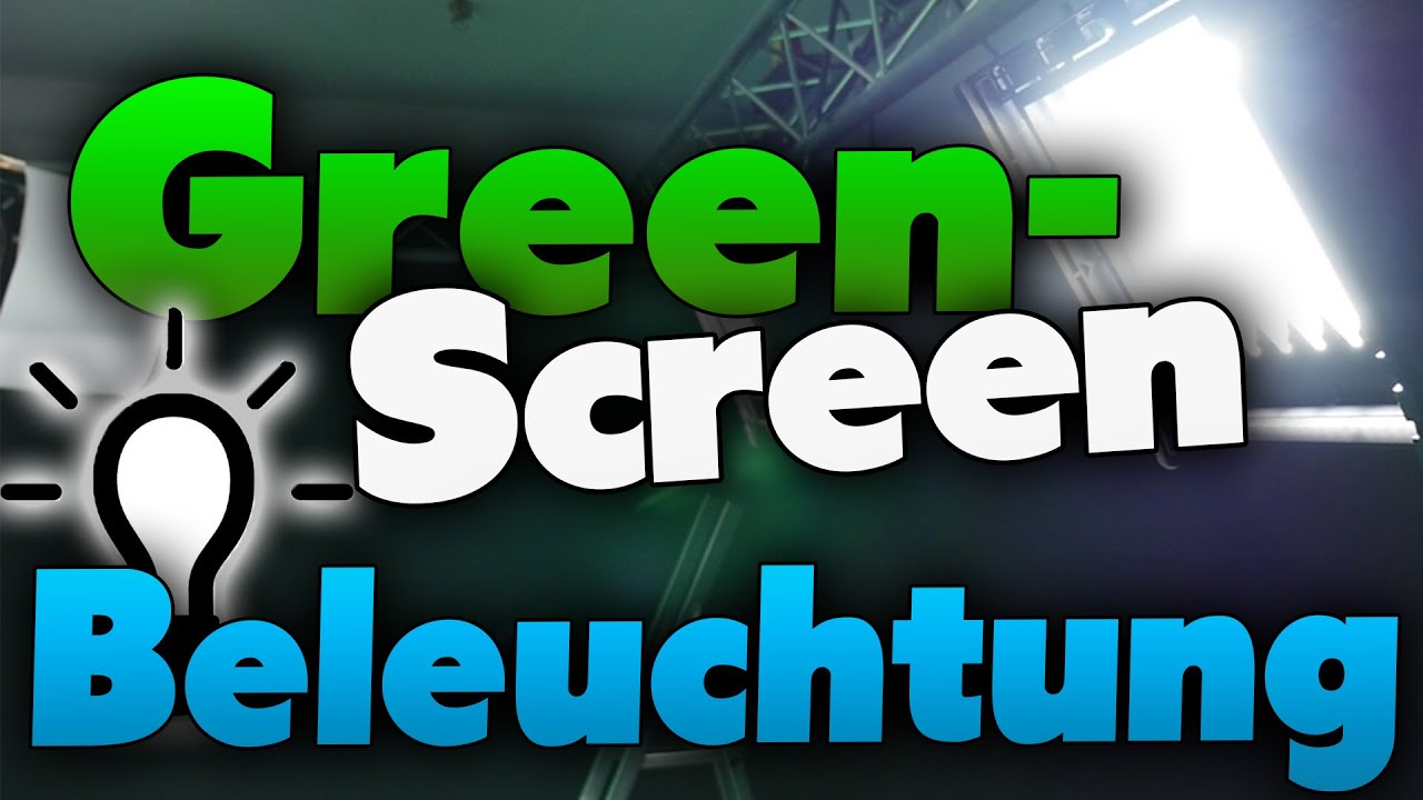 Greenscreen Beleuchtung Tutorial (german)  Greenscreen