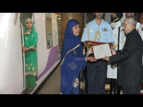 Mumtaz - Asia's First Woman Diesel Engine Driver, Gets 'Nari Shakti Puraskar' By The President