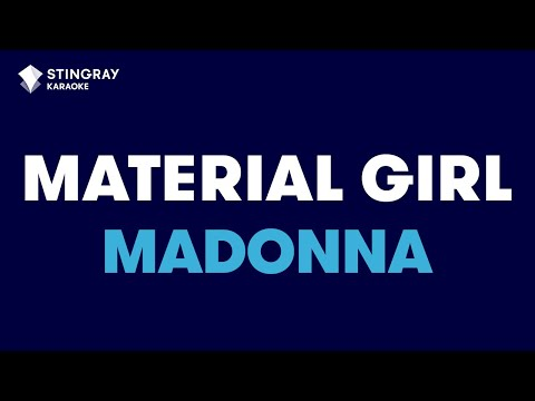 Material Girl in the style of Madonna karaoke video with lyrics no lead vocal