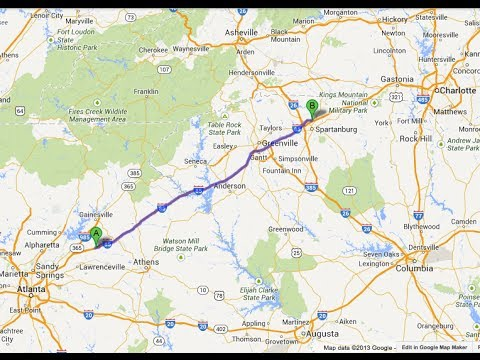Map Of I 85 Georgia.I 85 North Braselton Ga To Boiling Springs Sc Youtube