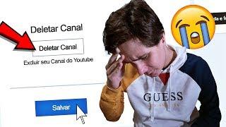 DELETEI O CANAL DO PAC! *ele acreditou?* TROLAGEM