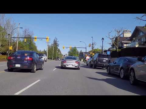 West Vancouver British Columbia (BC) Canada - Driving on Marine Drive - Scenic City Drive