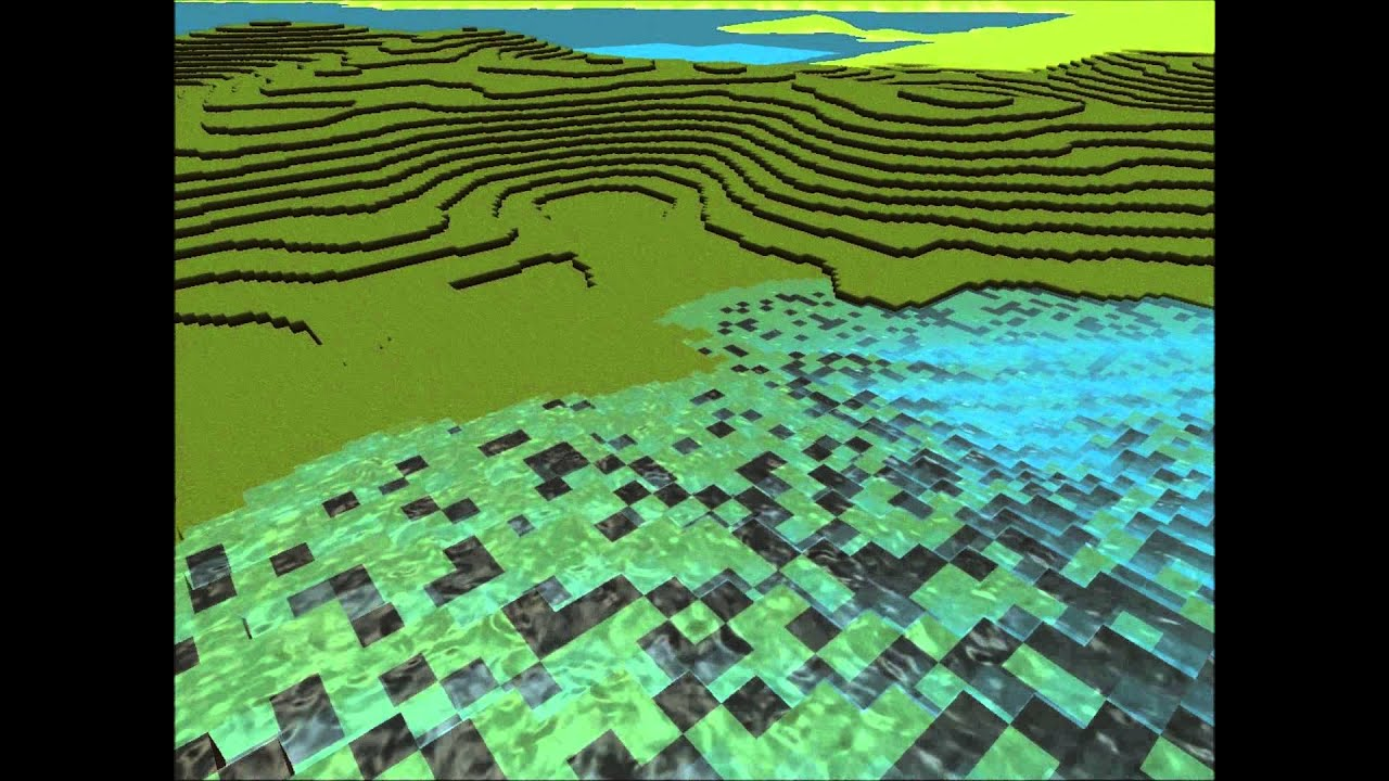 Voxel Engine - Game Update 2: Biomes, better water, better trees!