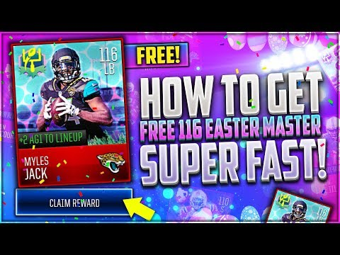 HOW TO GET 116 OVR EASTER MASTER COMPLETELY FREE! CHEAT SHEET! MADDEN MOBILE 18