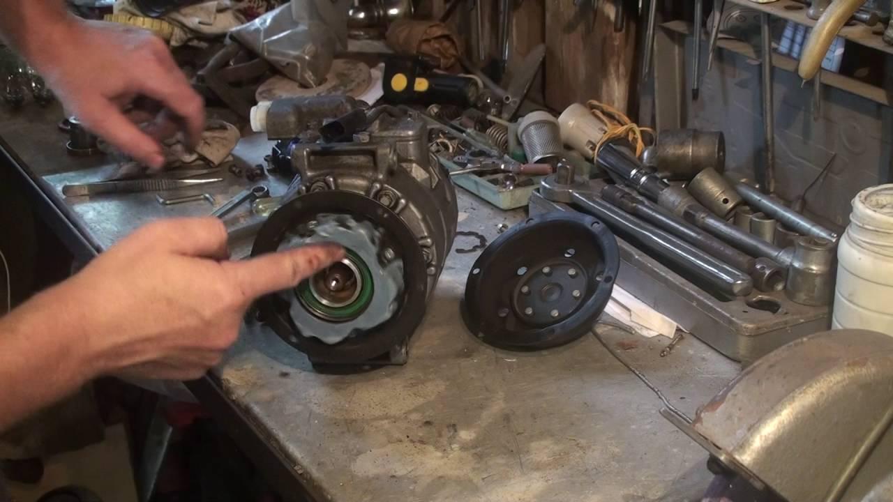 компрессор кондиционера porsche cayenne снять