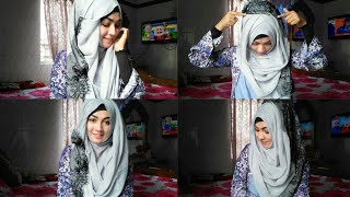 Easy 3 Hijab styles with covered chest for everyday classes & office ftStyline Collection  Pari zaaD