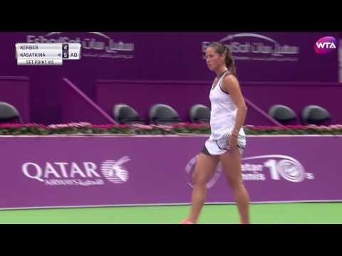 2017 Qatar Total Open Second Round | Daria Kasatkina vs Angelique Kerber | WTA  Highlights