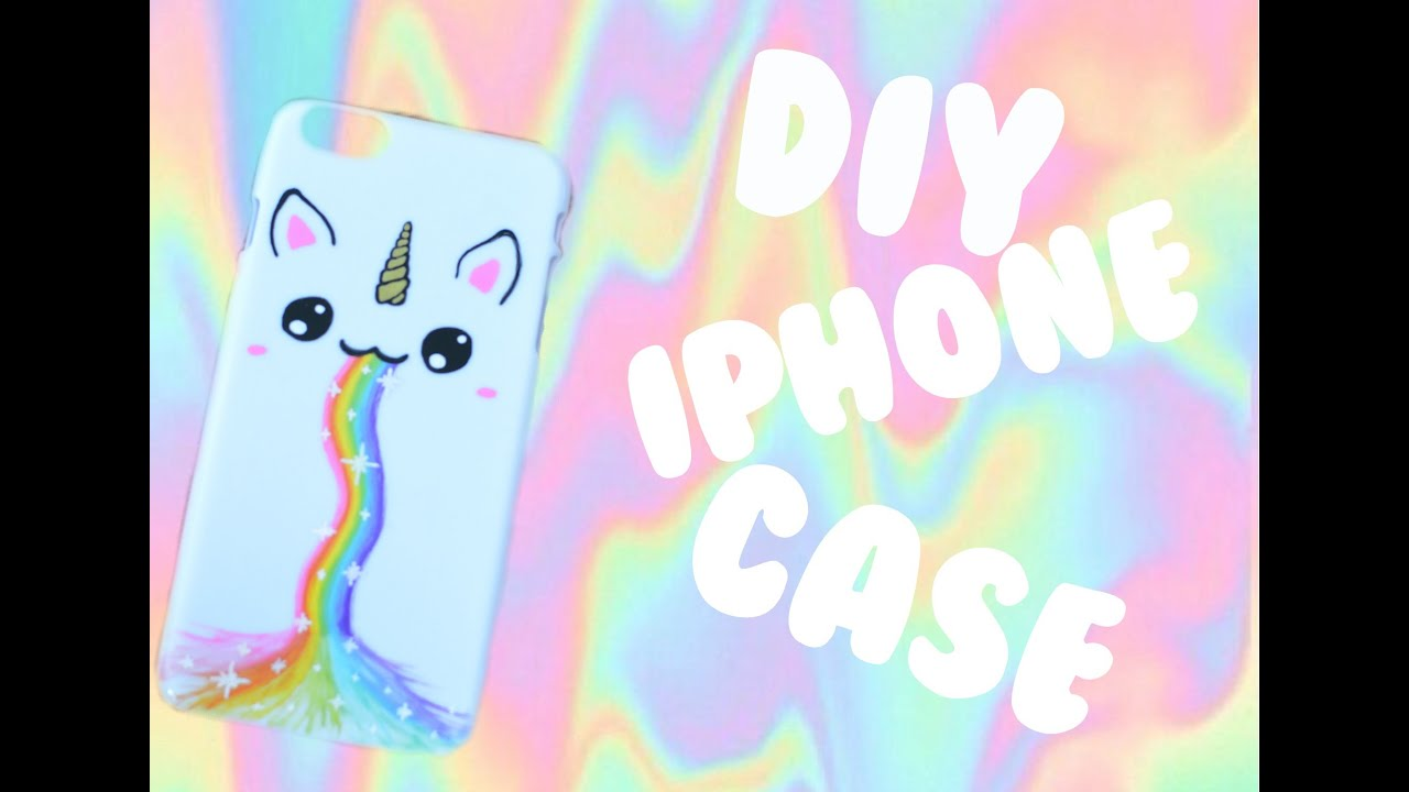Diy Unicorn Book Cover : Diy unicorn rainbow iphone case youtube