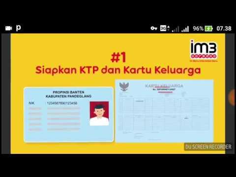 Cara Mudah Registrasi Kartu Perdana! IM3 Ooredoo  YouTube